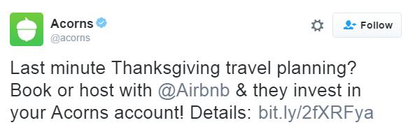 Acorns on twitter 2016
